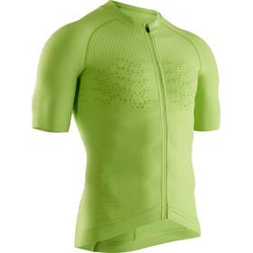 X-Bionic Effektor G2 Koszulka rowerowa z krótkim rękawem na zamek Mężczyźni, effektor green/arctic white